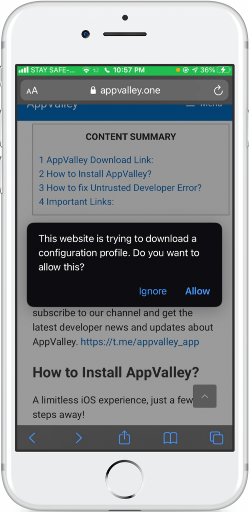 appvalley installer ios 13