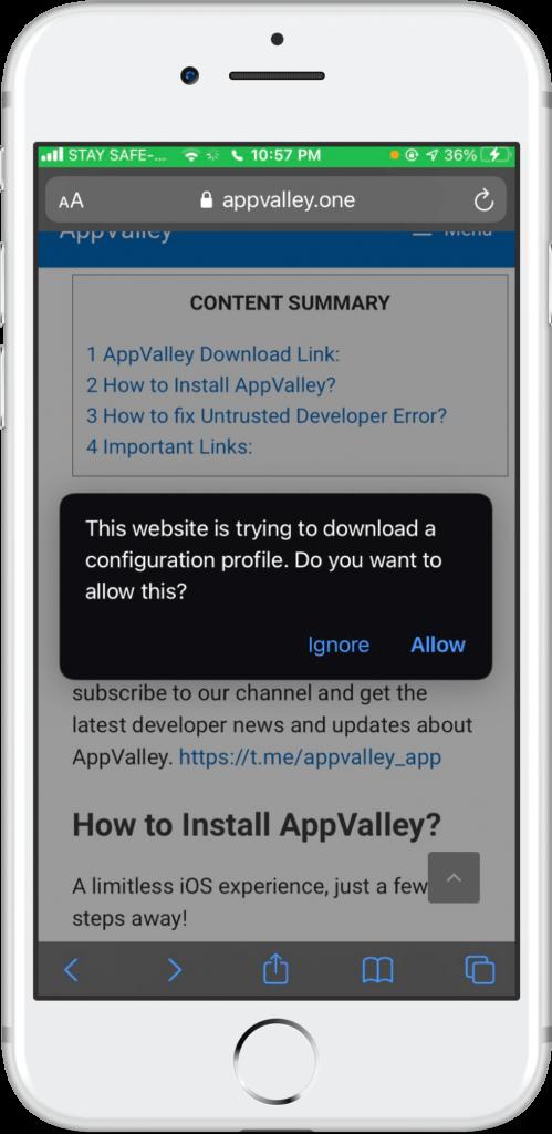 appvalley installer ios 13