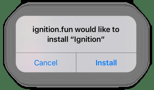ignition app install