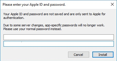 apple app install authentication windows