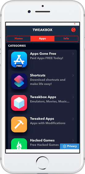 tweakbox apps catogories