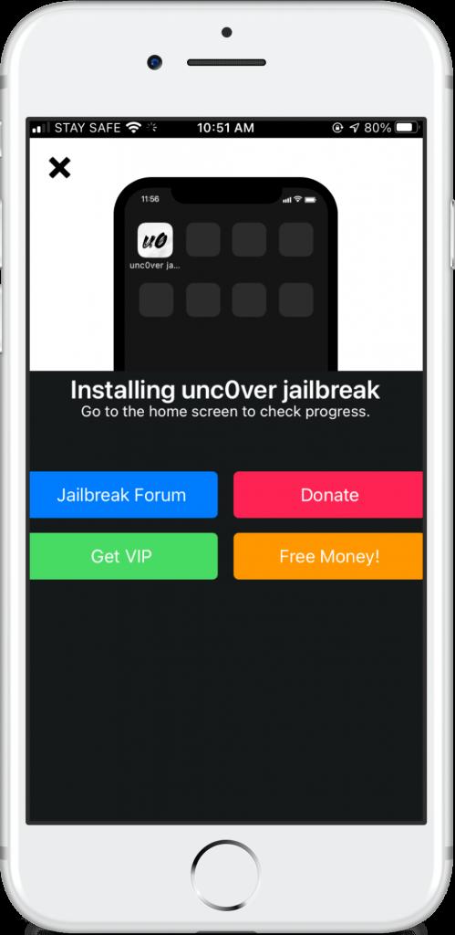 unc0ver jailbreak install on iOS 13